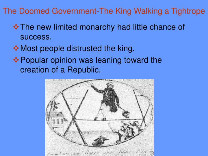 The Doomed Government-The King Walking a Tightrope