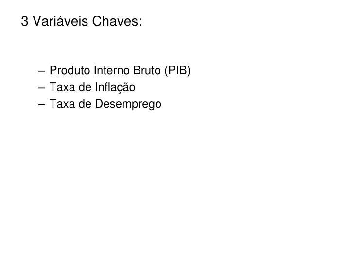 3 Variáveis Chaves: