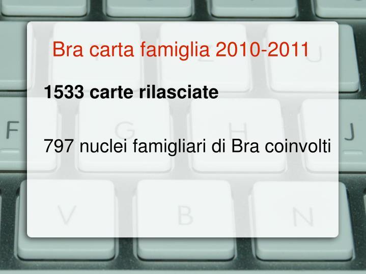 Bra carta famiglia 2010-2011