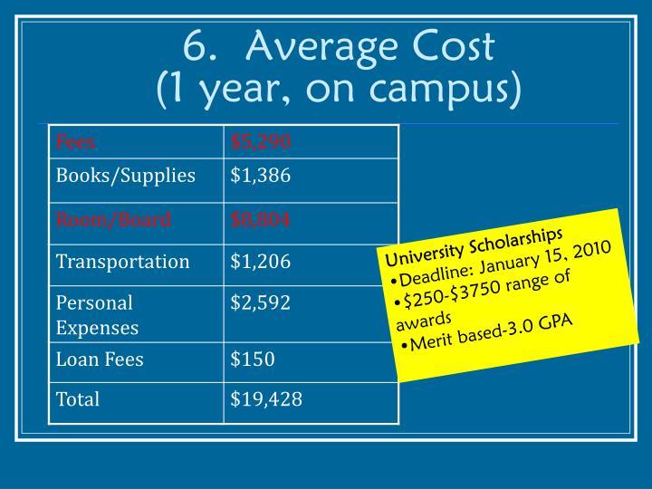6.  Average Cost