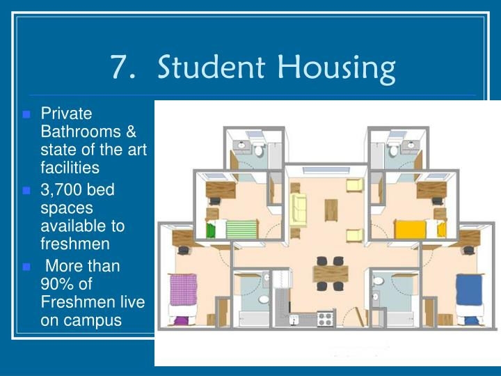 7.  Student Housing