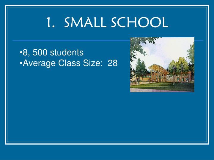 1.  SMALL SCHOOL