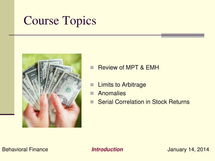 Course Topics