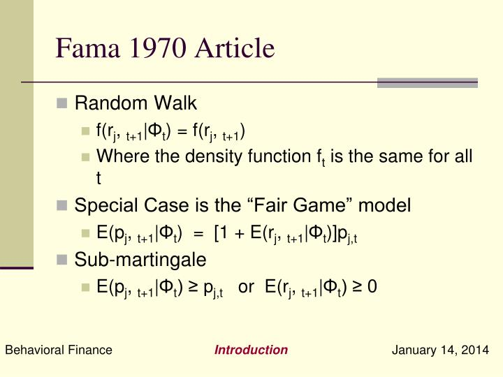 Fama 1970 Article