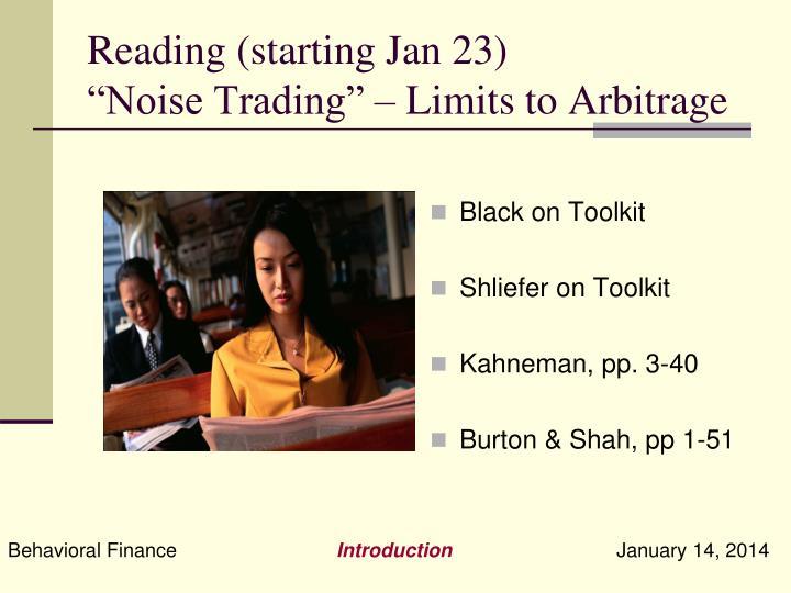 Reading (starting Jan 23)