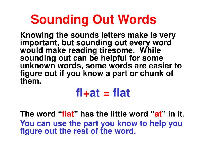 Sounding Out Words