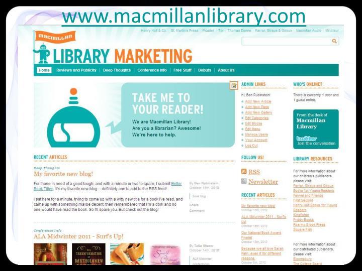 www.macmillanlibrary.com