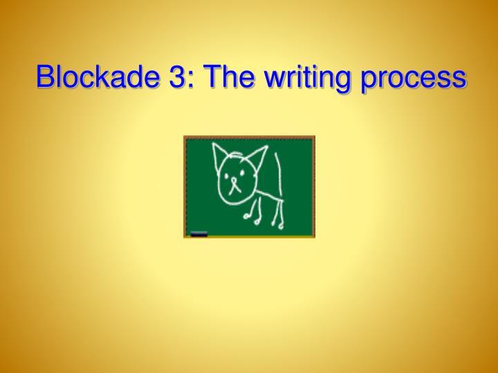 Blockade 3: The writing process