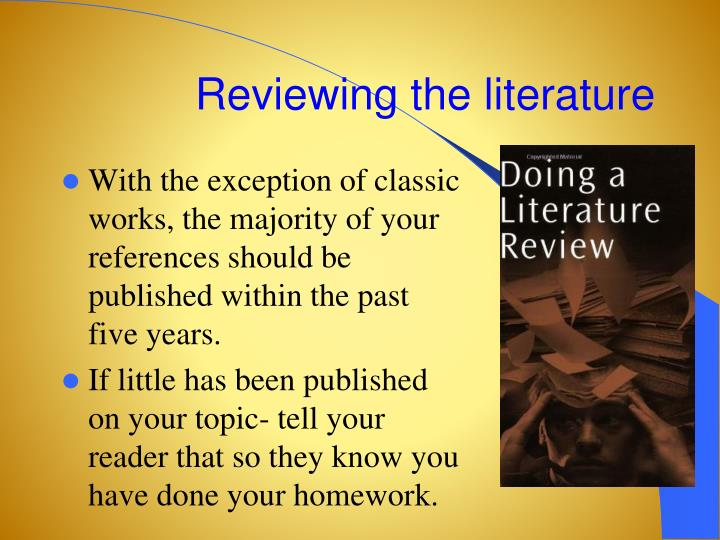 Reviewing the literature