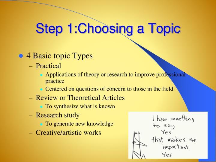 Step 1:Choosing a Topic