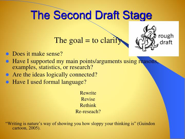 The Second Draft Stage