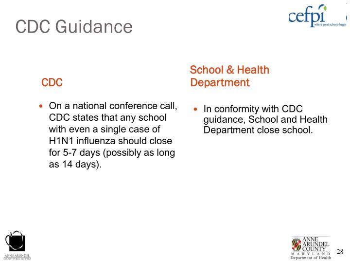 CDC Guidance