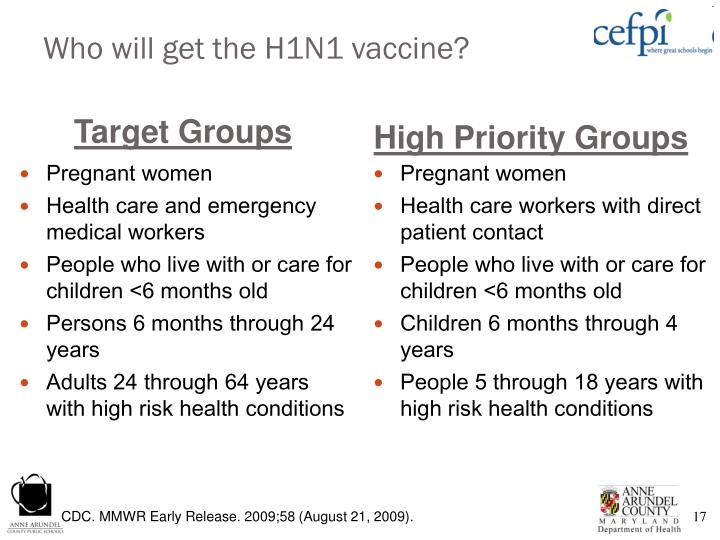 Who will get the H1N1 vaccine?