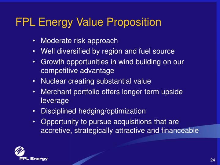 FPL Energy Value Proposition