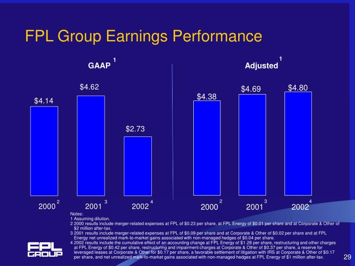 FPL Group Earnings Performance