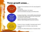 three growth areas
