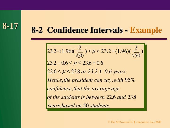 8-2  Confidence Intervals -
