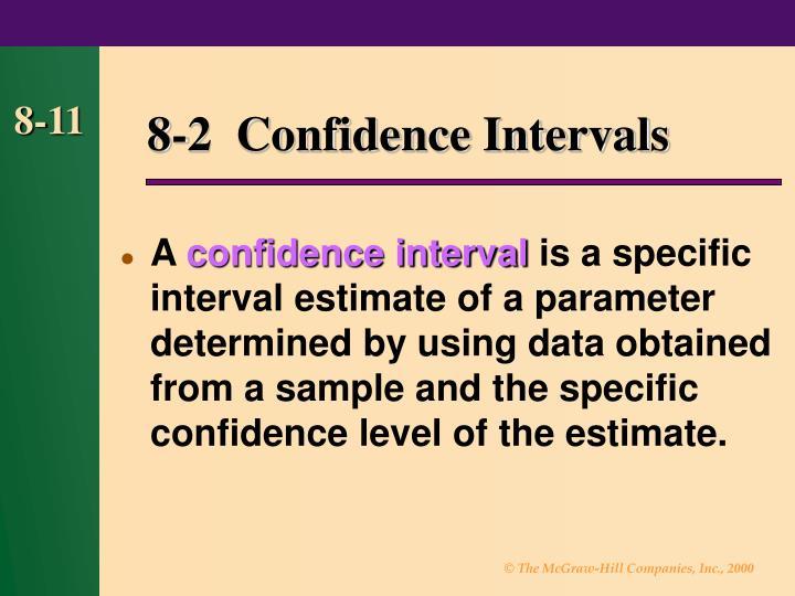 8-2  Confidence Intervals
