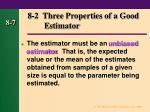 8 2 three properties of a good estimator