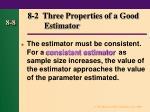8 2 three properties of a good estimator1