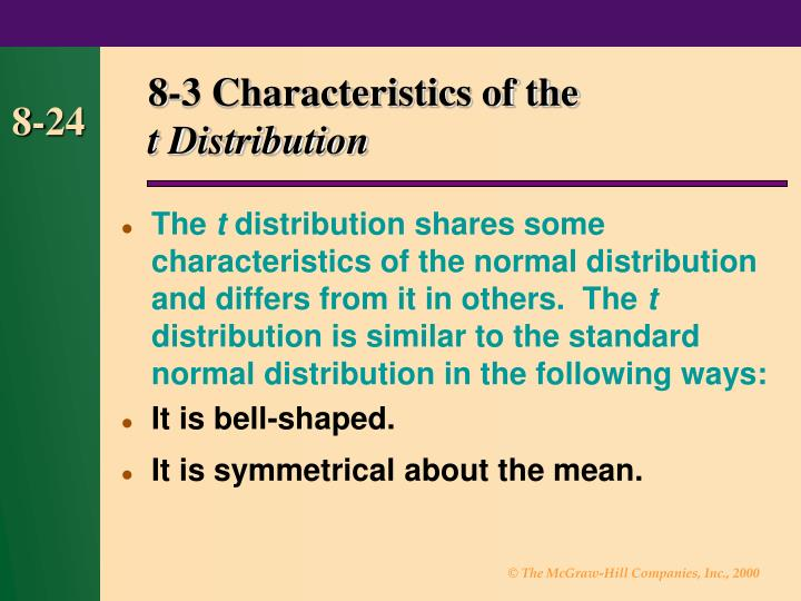 8-3 Characteristics of the