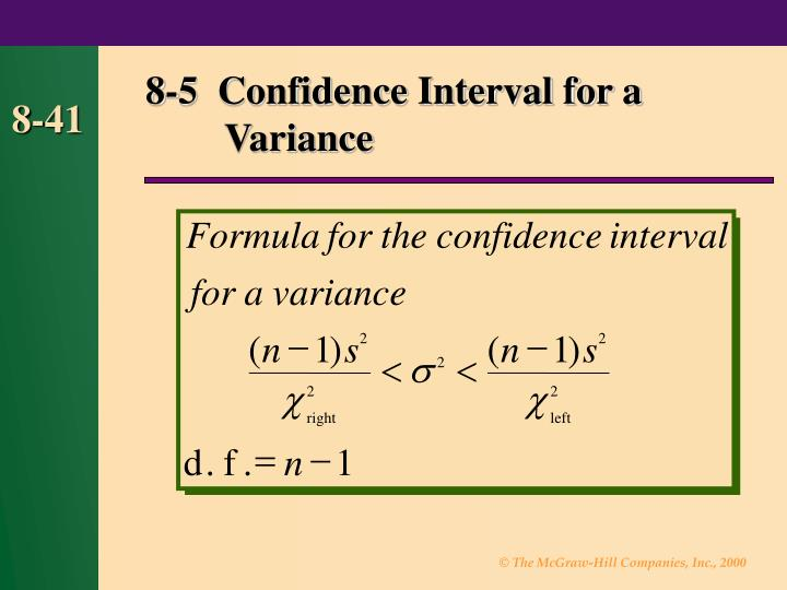 8-5  Confidence Interval for a Variance