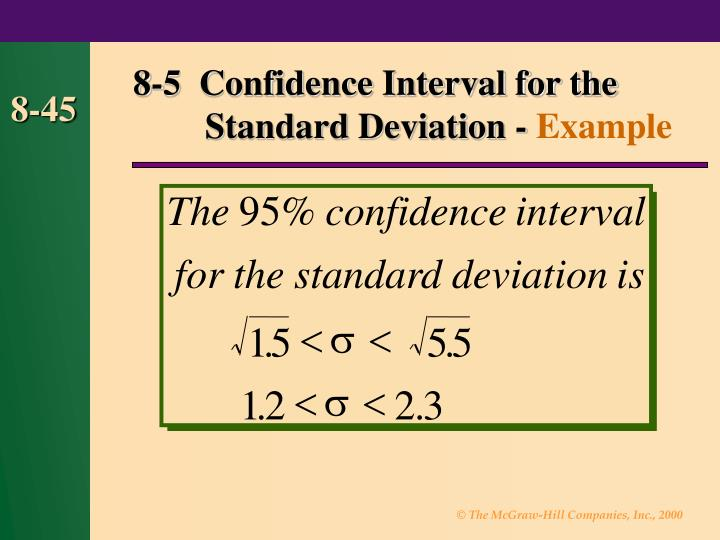8-5  Confidence Interval for the Standard Deviation -