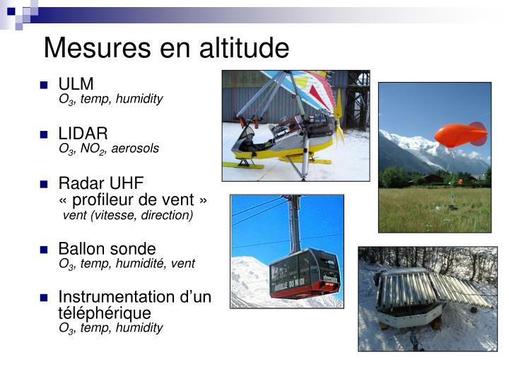 Mesures en altitude