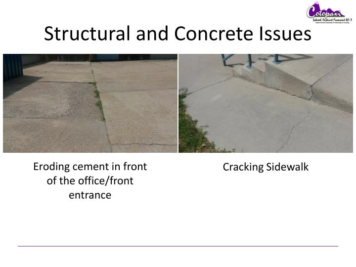 Structural and Concrete Issues