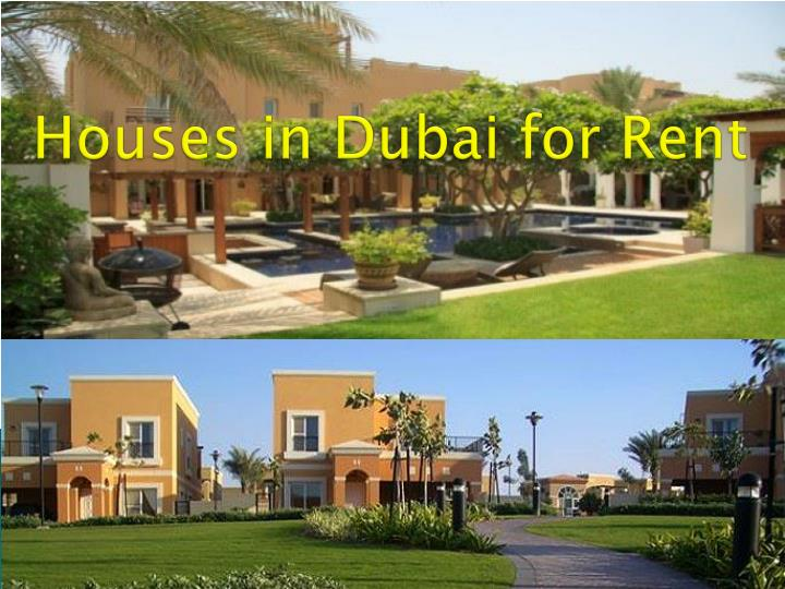 Houses in dubai for rent