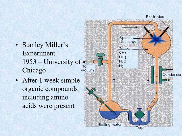 Stanley Miller's Experiment