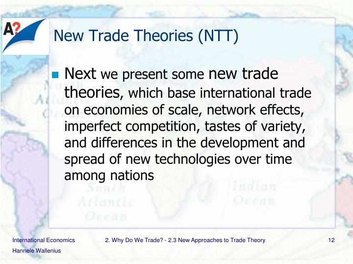 New Trade Theories (NTT)