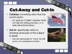 cut away and cut in
