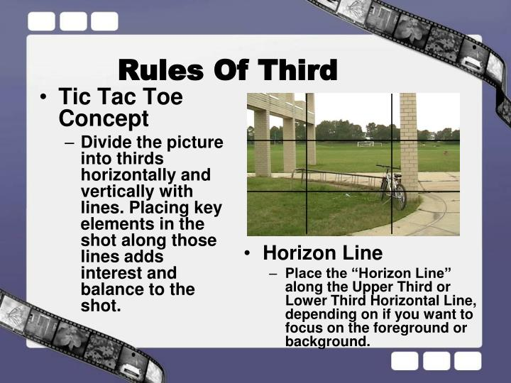Rules Of Third