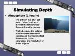 simulating depth4