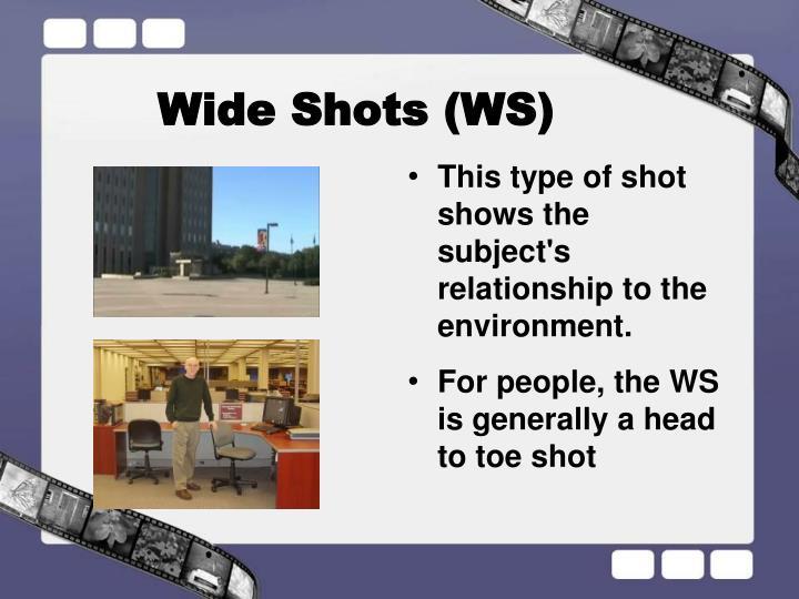 Wide Shots (WS)