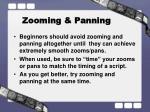 zooming panning