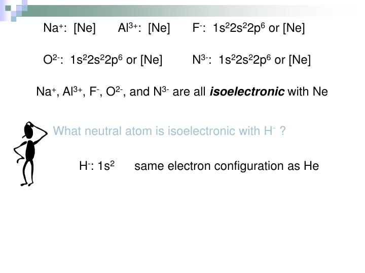 What neutral atom is isoelectronic with H