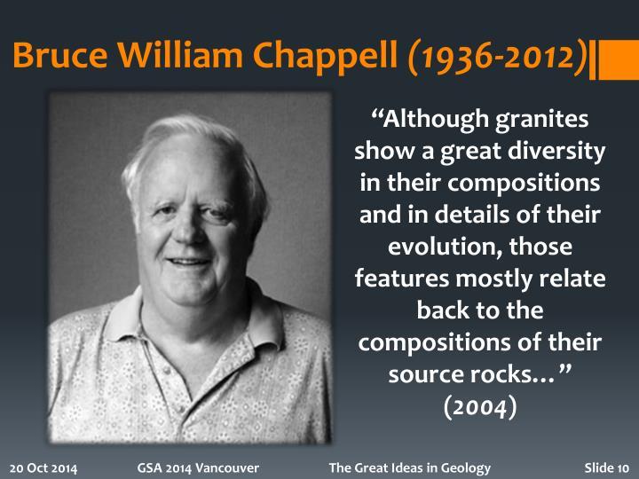 Bruce William Chappell