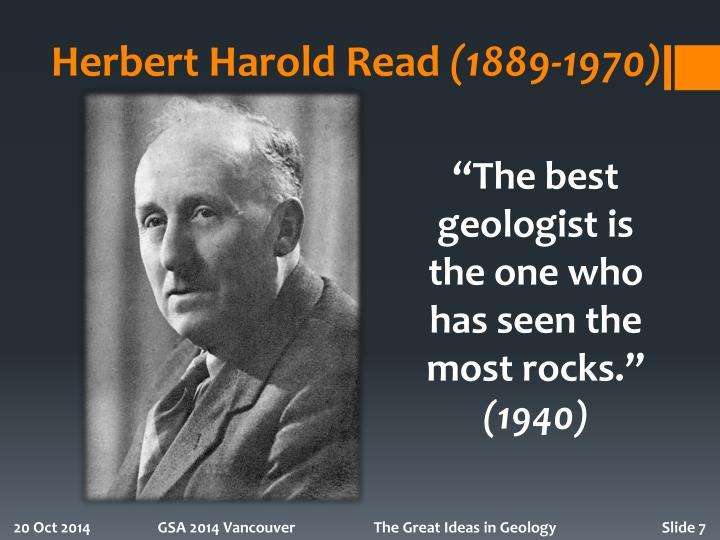 Herbert Harold Read