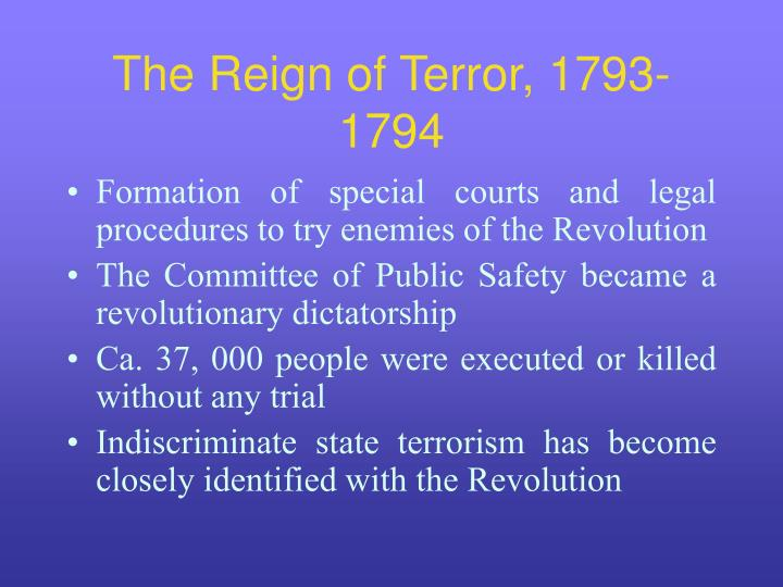 The Reign of Terror, 1793-1794