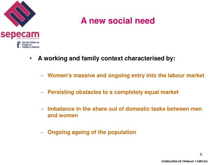 A new social need
