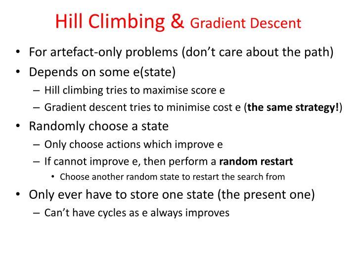 Hill Climbing &