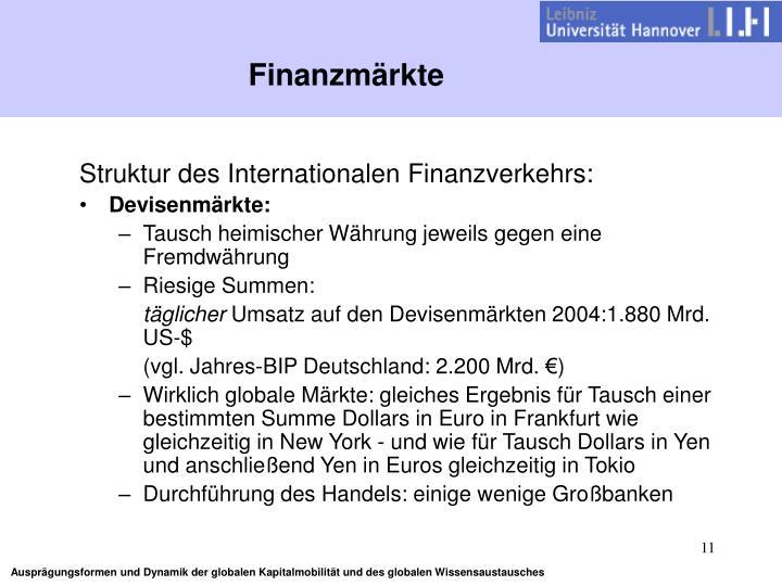 Finanzmärkte