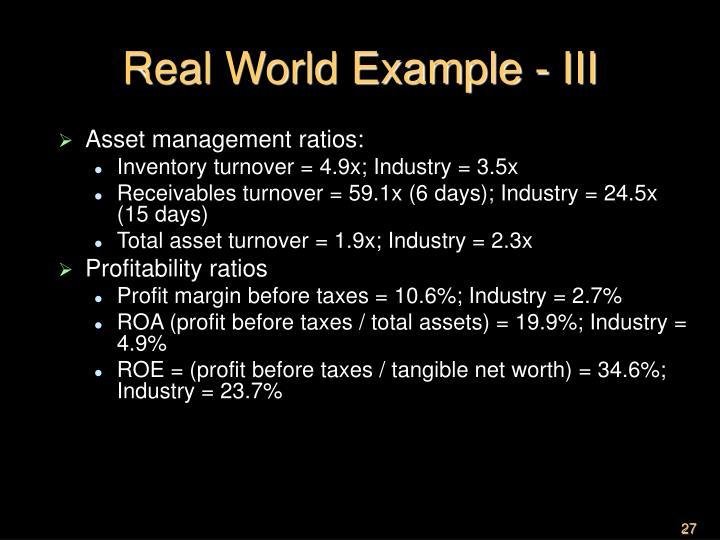Real World Example - III