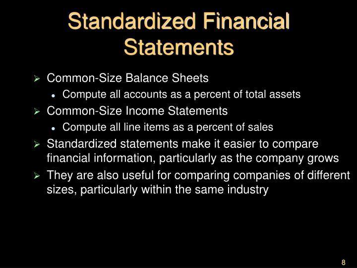 Standardized Financial Statements