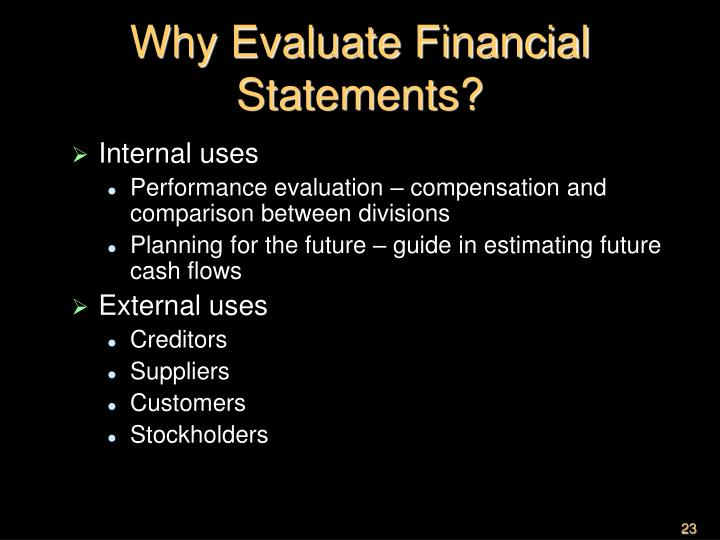 Why Evaluate Financial Statements?