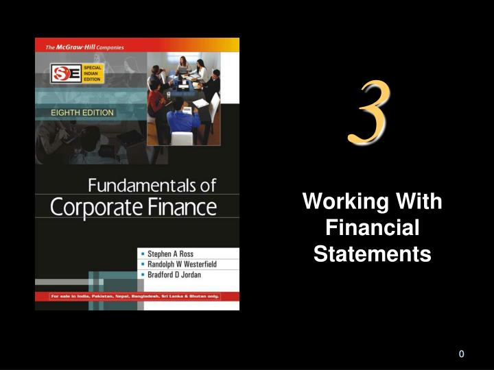 working with financial statements