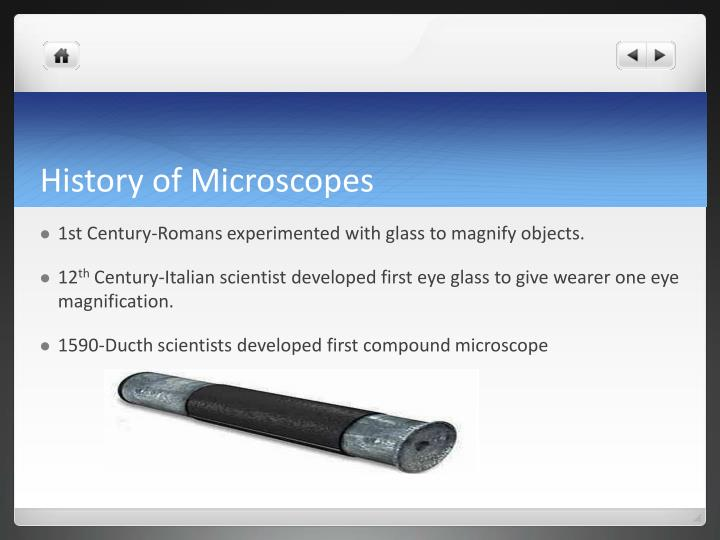 History of Microscopes
