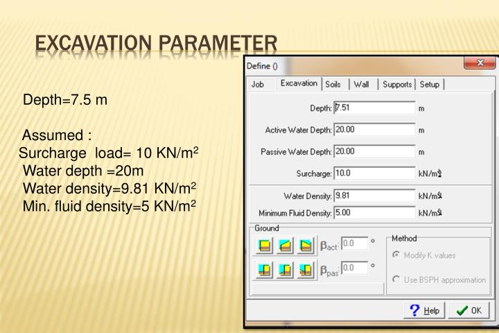 Excavation Parameter